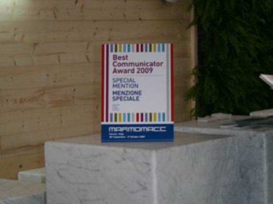 Best communicator award 2009 <br> Franchi Umberto Marmi