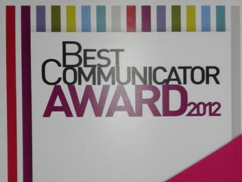 Best Communicator Award 2012 <br> Savema Magti